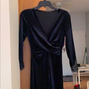 Zara velvet dress.